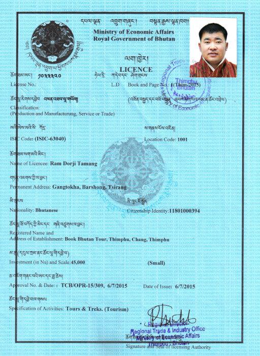 Book Bhutan Tour Registration